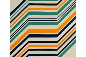 Ottavio Missoni, Untitled, 1971, 73 x 73 cm, acrylic on board