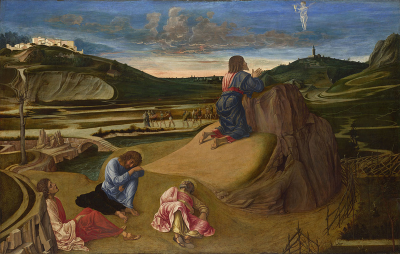Giovanni Bellini, active about 1459; died 1516 The Agony in the Garden about 1465 Egg on wood, 81.3 x 127 cm Bought, 1863
