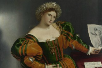 Portrait of a woman inspired by Lucretia, Lorenzo Lotto