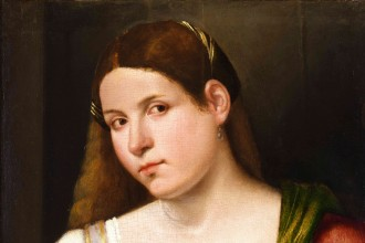 Giovanni Cariani, portrait of a woman
